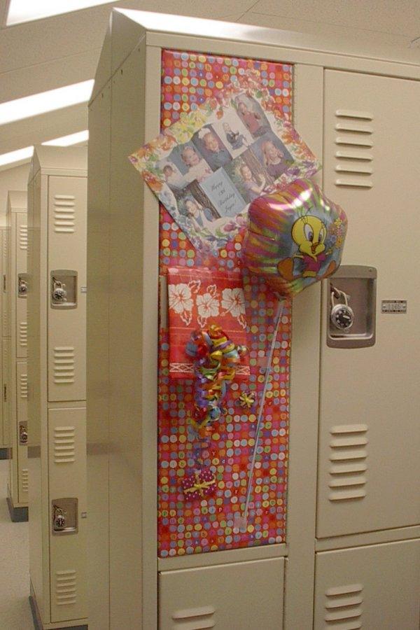 Locker birthday ideas Locker decor Pinterest. Look at the cool flamingosweater Janet found for Ana. When she was . & Cloth Decoration Ideas For Birthday ~ Birthday Cake and Birthday ...